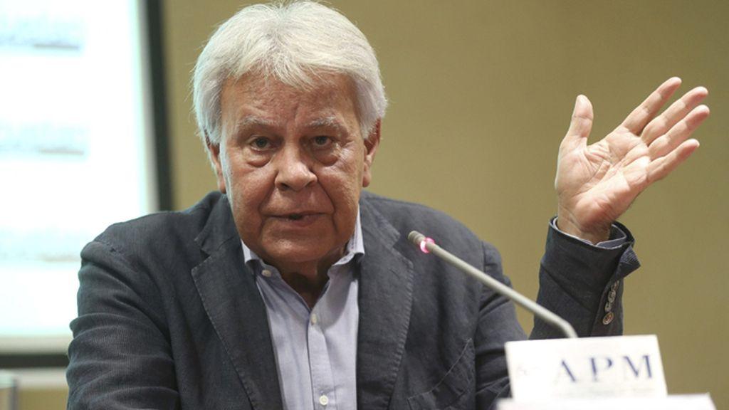 Rueda de prensa de Felipe González tras su regreso de Venezuela