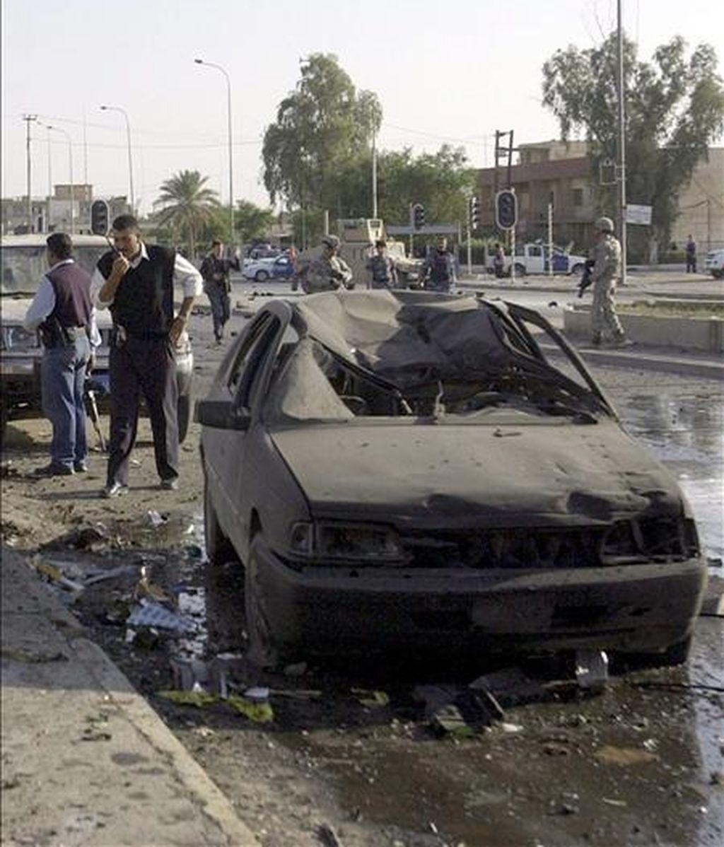Escenario de los uno de los últimos atentados registrados en Tikrit, Irak, el pasado mes de abril. EFE/Archivo