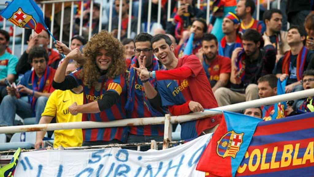 Las aficiones ya se encuentran dentro del estadio de Mestalla