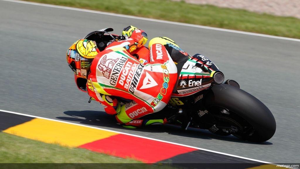 Valentino Rossi en los primeros libres del GP de Alemania