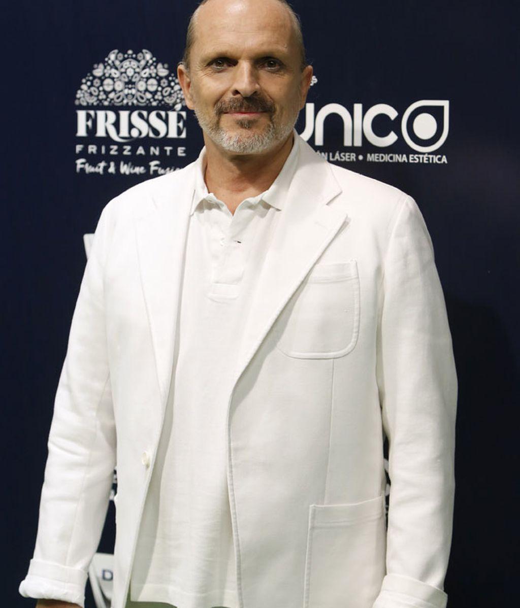 Miguel Bosé en la gala de 25 Aniversario de Cadena Dial