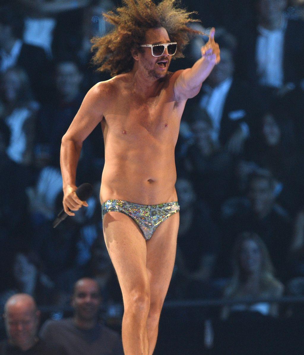 Redfoo en un momento de su actuación en la gala de los MTV EMA