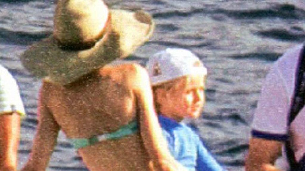 La princesa Letizia, en bikini
