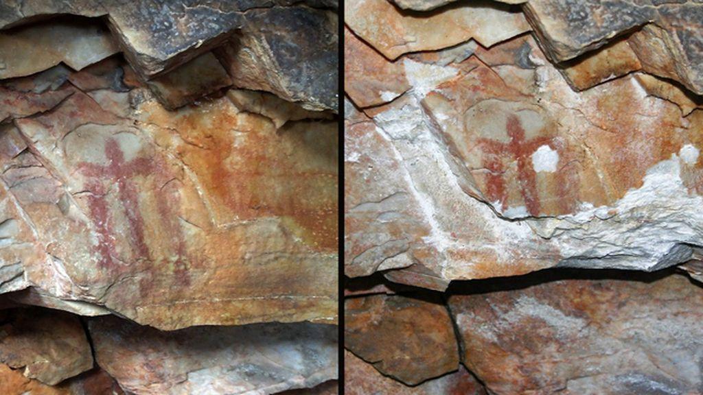 Destrozan una pintura rupestre patrimonio de la humanidad en una cueva de Jaén