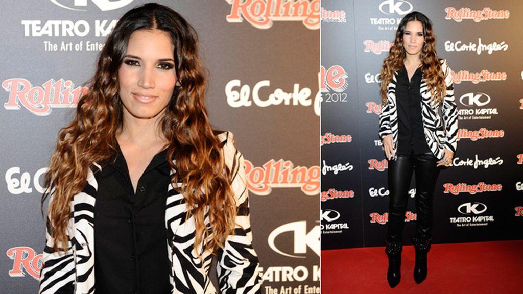India Martínez, con un look muy rockero: estampados y cuero