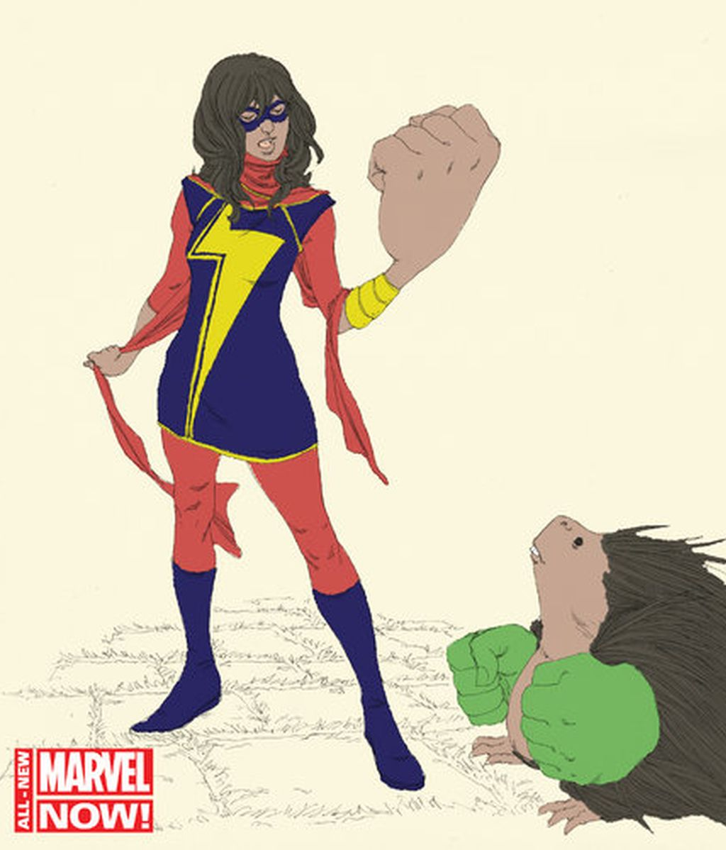 superheroína árabe, Kamala Khan, Marvel, cómic