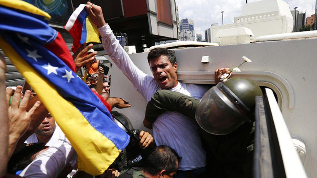 Detención de Leopoldo López en Caracas