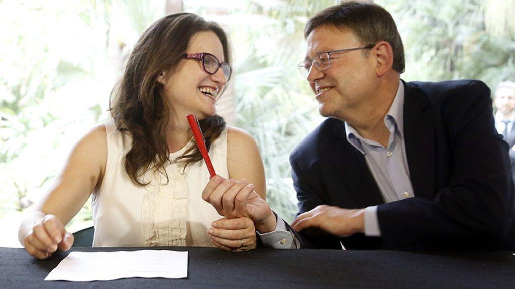 Acuerdo programático entre Mónica Oltra y Ximo Puig