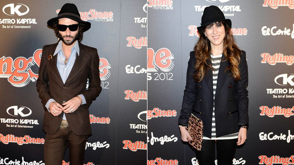 Leiva y Mai Meneses, como mellizos vistiendo: Los dos eligieron blazer y sombrero