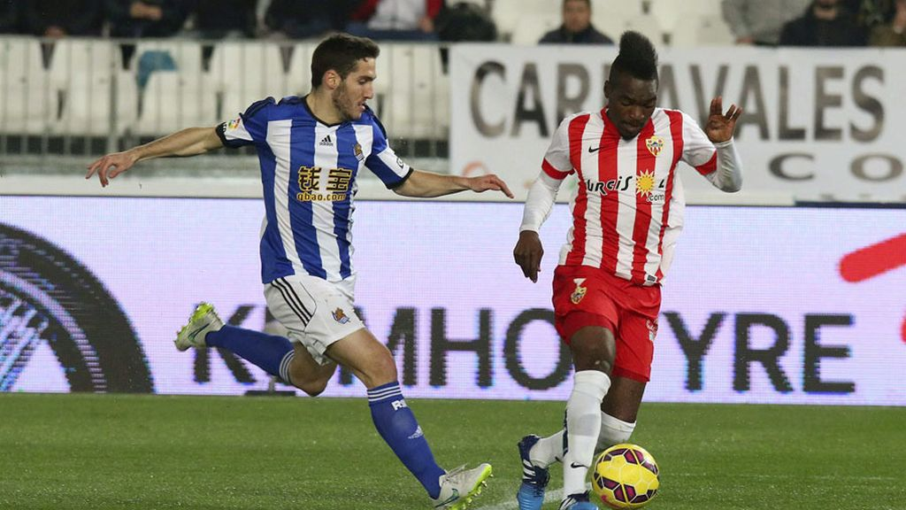 Empate a dos entre el Almería y la Real Sociedad