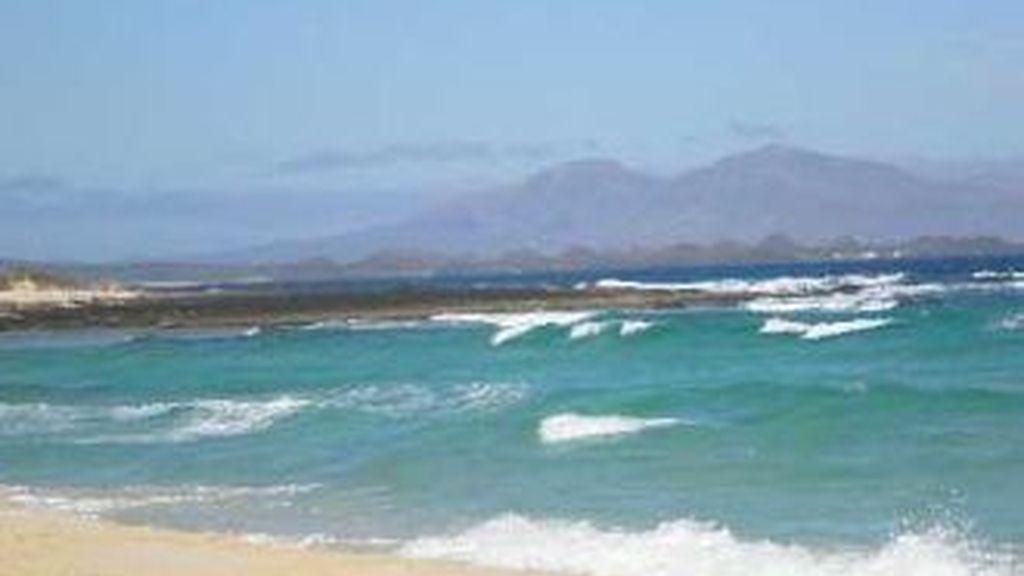 En la foto Grandes Playas de Corralejo en Fuerteventura , donde ha ocurrido el trágico incidente.