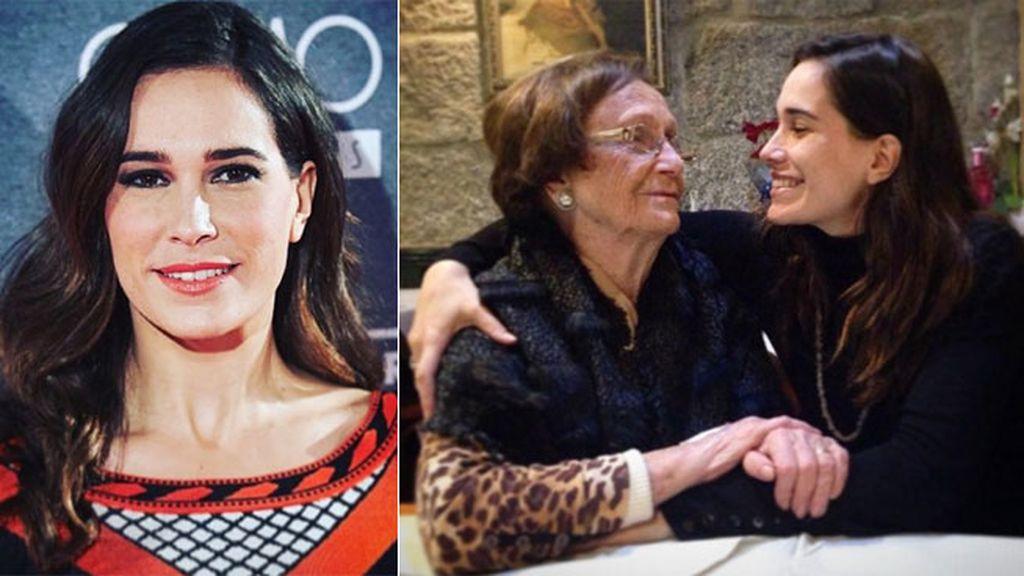 """La actriz Celia Freijeiro con """"la abu"""""""