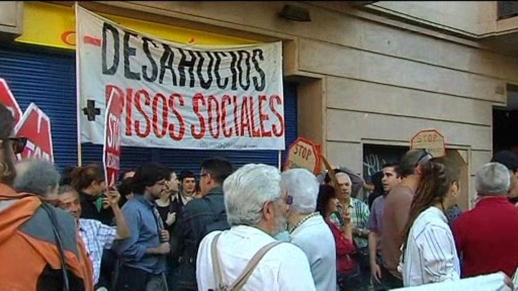 Impiden un desahucio en Barcelona