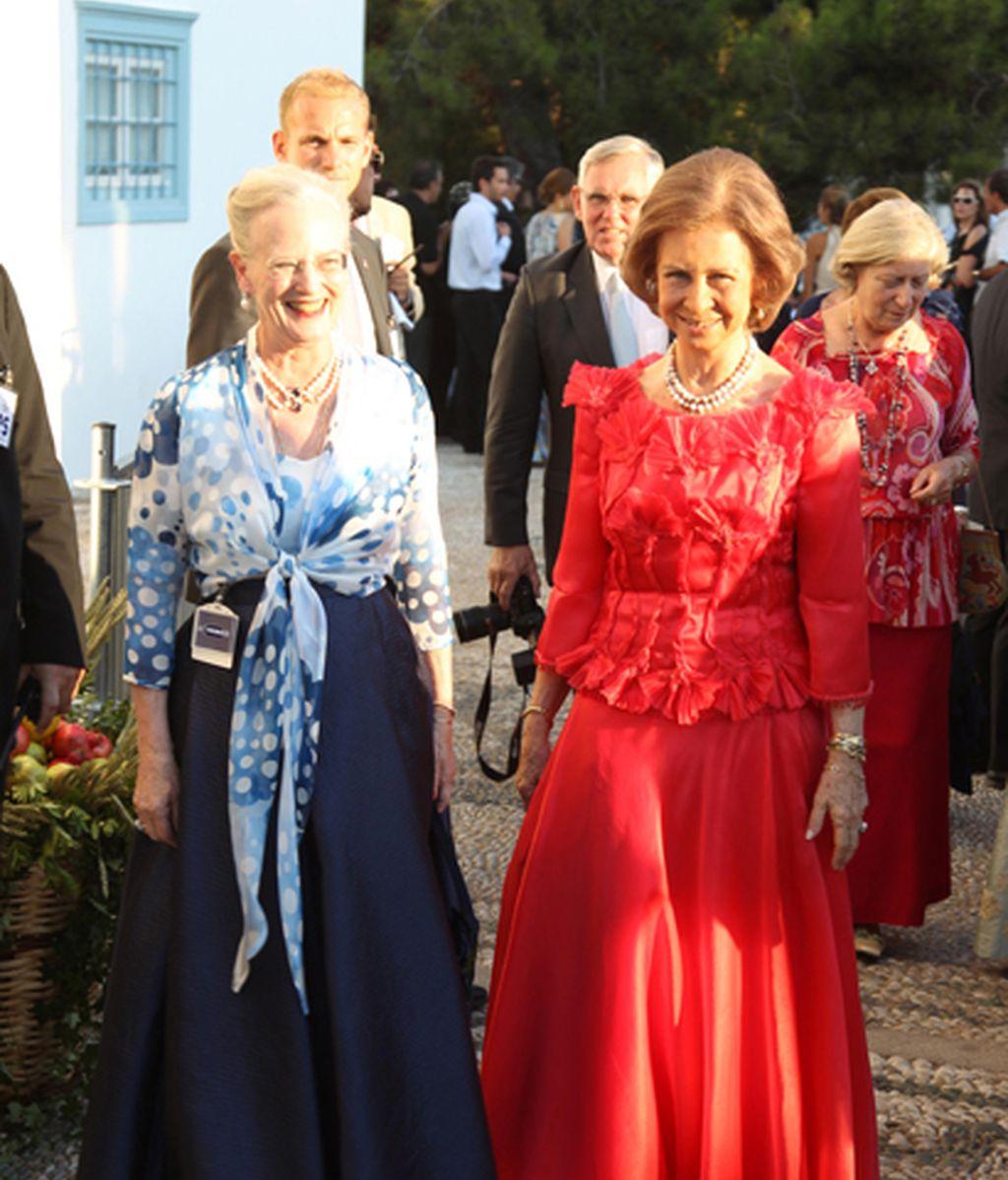 Con la Reina de Dinamarca