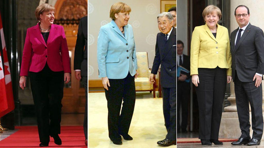 Angela Merkel, siempre el mismo uniforme