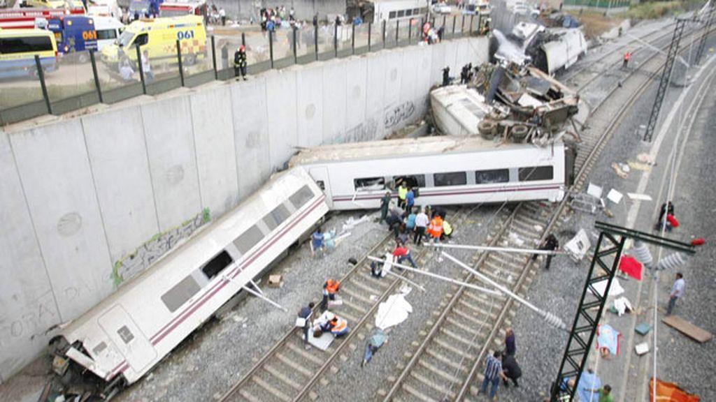 El tren desacrrilado era un Alvia que realizaba el trayecto Madrid-Ferrol