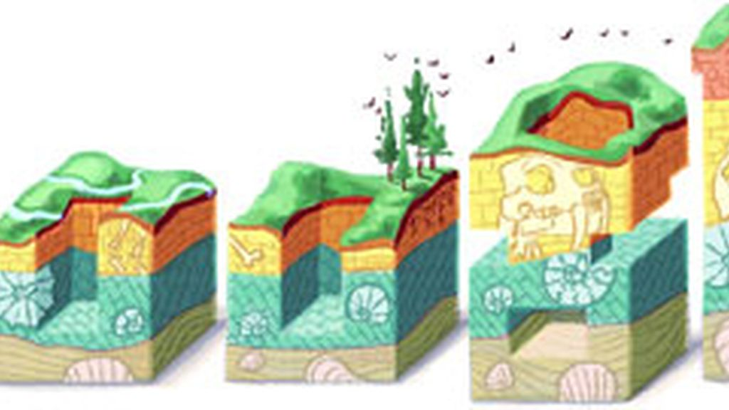 Las capas de la tierra llegan al doodle de Google