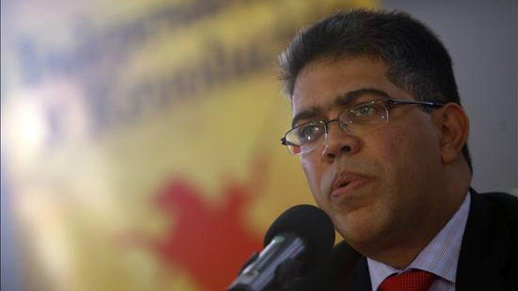 """Venezuela """"jamás se prestará a ninguna fuerza de la oligarquía o grupo irregular alguno para que nuestro territorio sea plataforma para atacar al pueblo colombiano"""", afirmó el vicepresidente venezolano, Elías Jaua. EFE/Archivo"""
