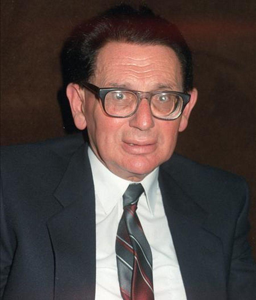 Primer plano del físico Marcos Moshinsky, Investigador del Instituto de Física de la Universidad Nacional Autónoma de México. EFE/Archivo
