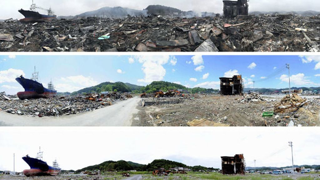 El antes y el después del tsunami que asoló Japón