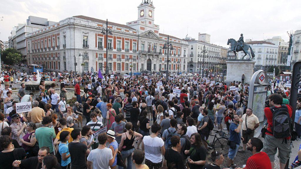 Protestas contra el PP en Madrid