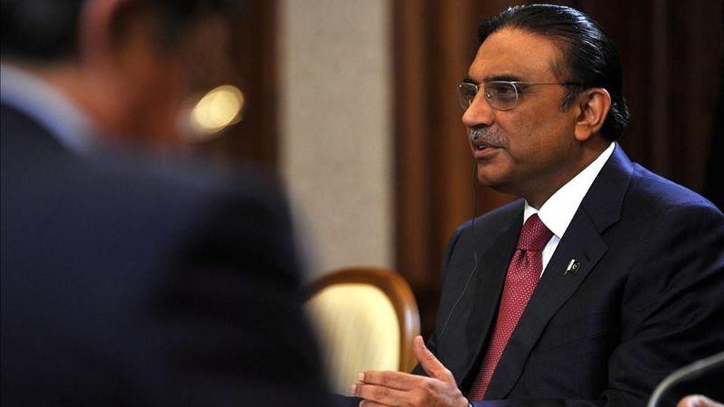 El presidente paquistaní, Asif Ali Zardari. EFE/Archivo