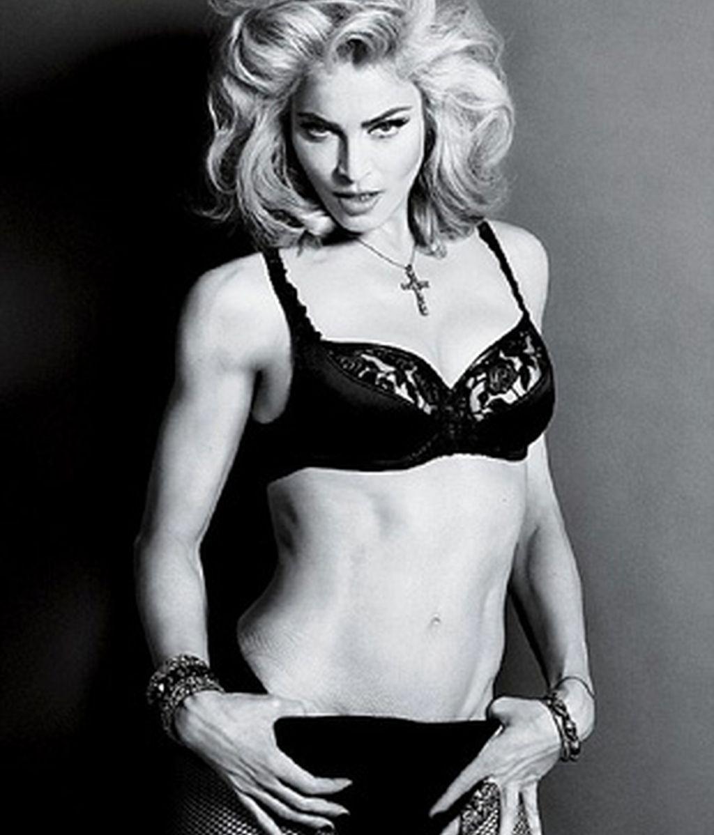 Madonna posó recientemente sin Photoshop para la revista Interview.