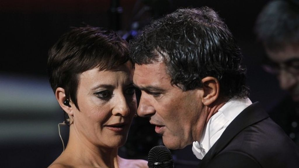 Eva Hache y Antonio Banderas