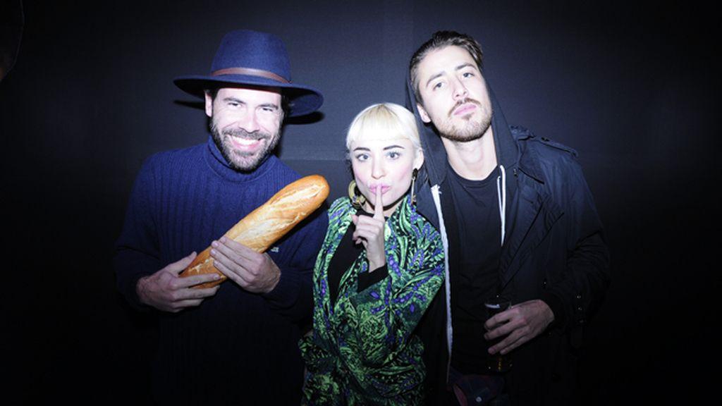 Mickey Carrizo, Miranda Makaroff y Pascal Moscheni