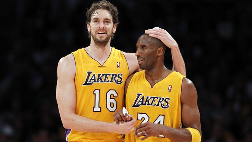 Kobe fue uno de los grandes apoyos de Pau Gasol en los Lakers