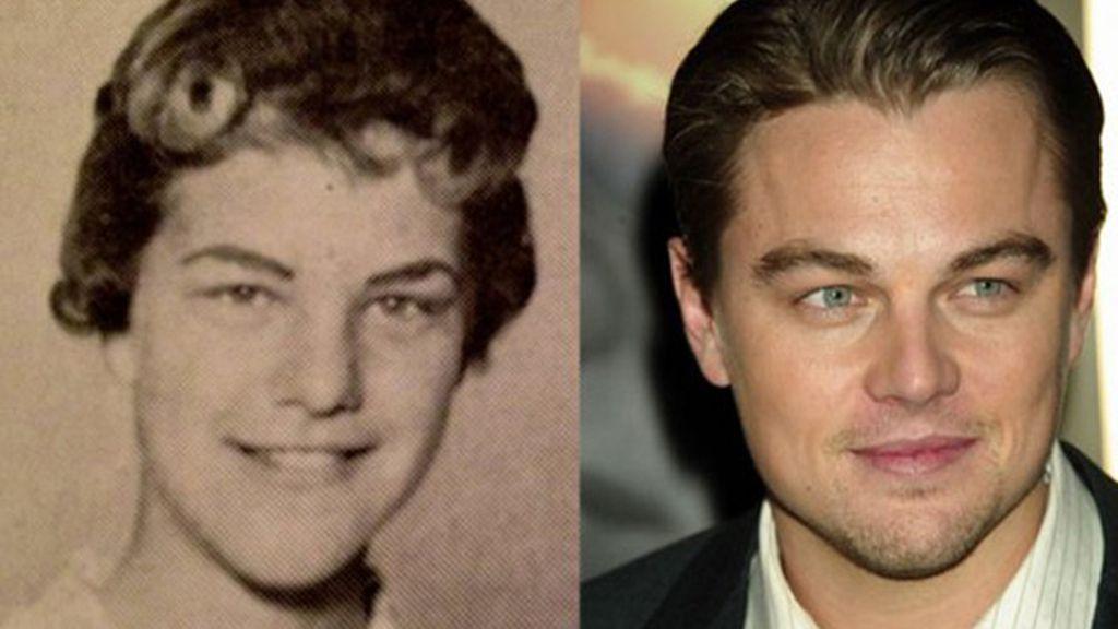 Una mujer y Leonadro DiCaprio