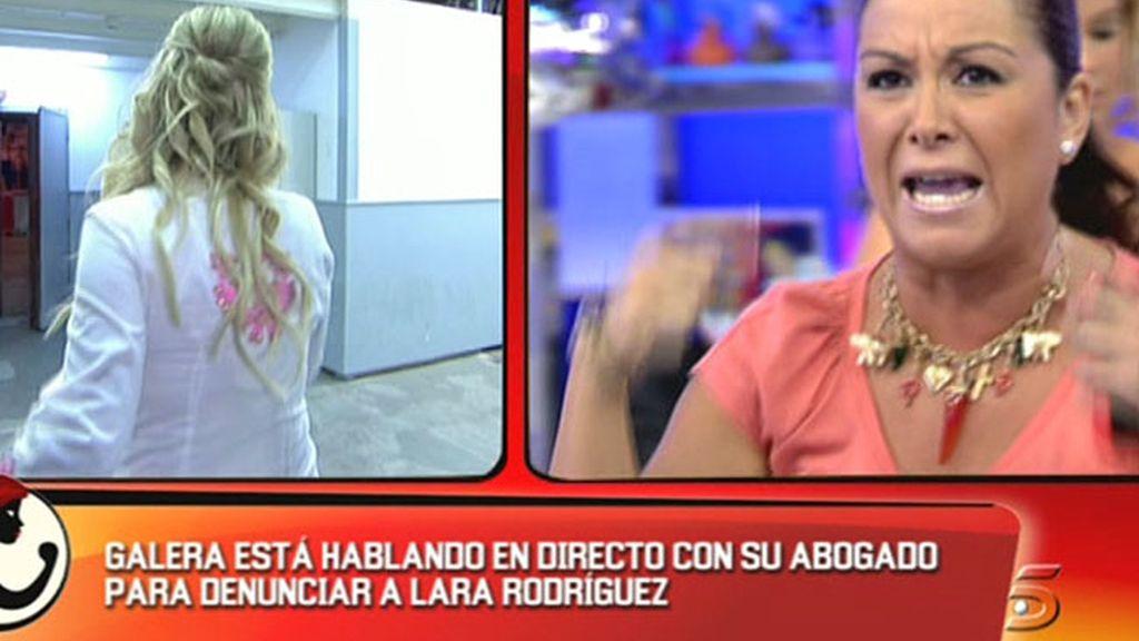 Grave enfrentamiento entre Galera y Lara Rodríguez