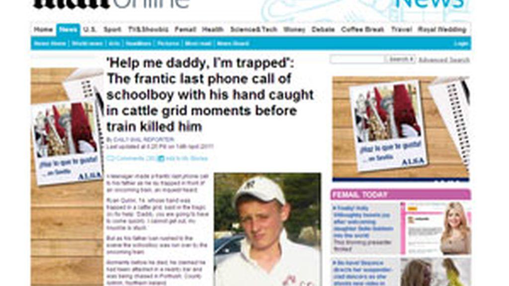 Imagen del joven que perdió la vida. Foto: Daily Mail.