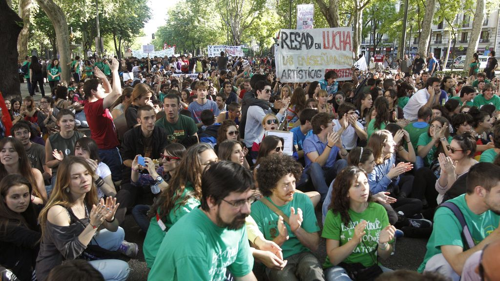 Manifestación en Madrid contra los recortes educativos