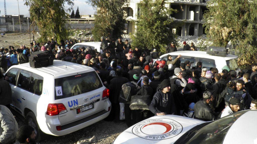 Evacuación de civeles en Homs, Siria
