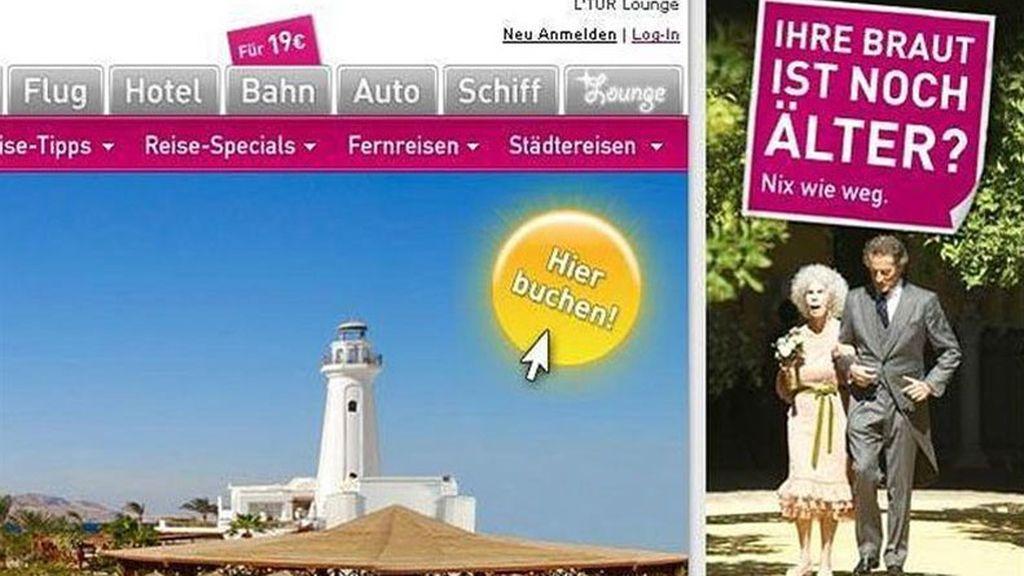 Polémica campaña publicitaria de un touroperador alemán con la duquesa de Alba como protagonista