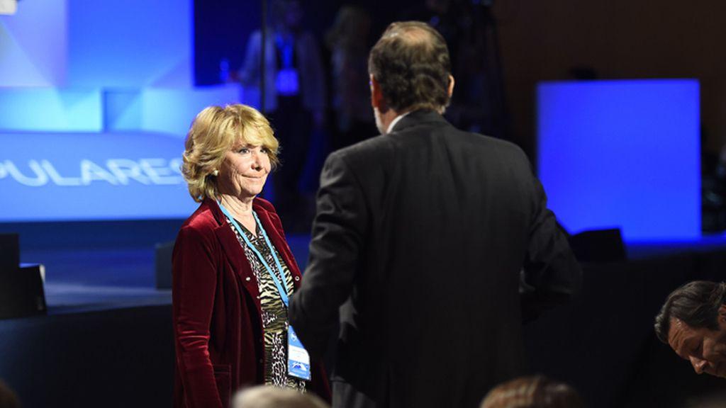 Esperanza Aguirre en la Convención Nacional del PP en Madrid