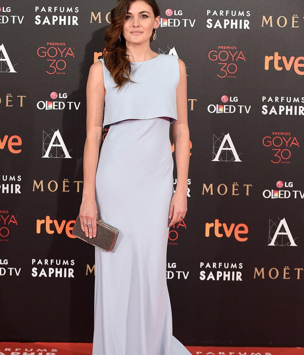Marta Nieto en la alfombra roja de los Goya