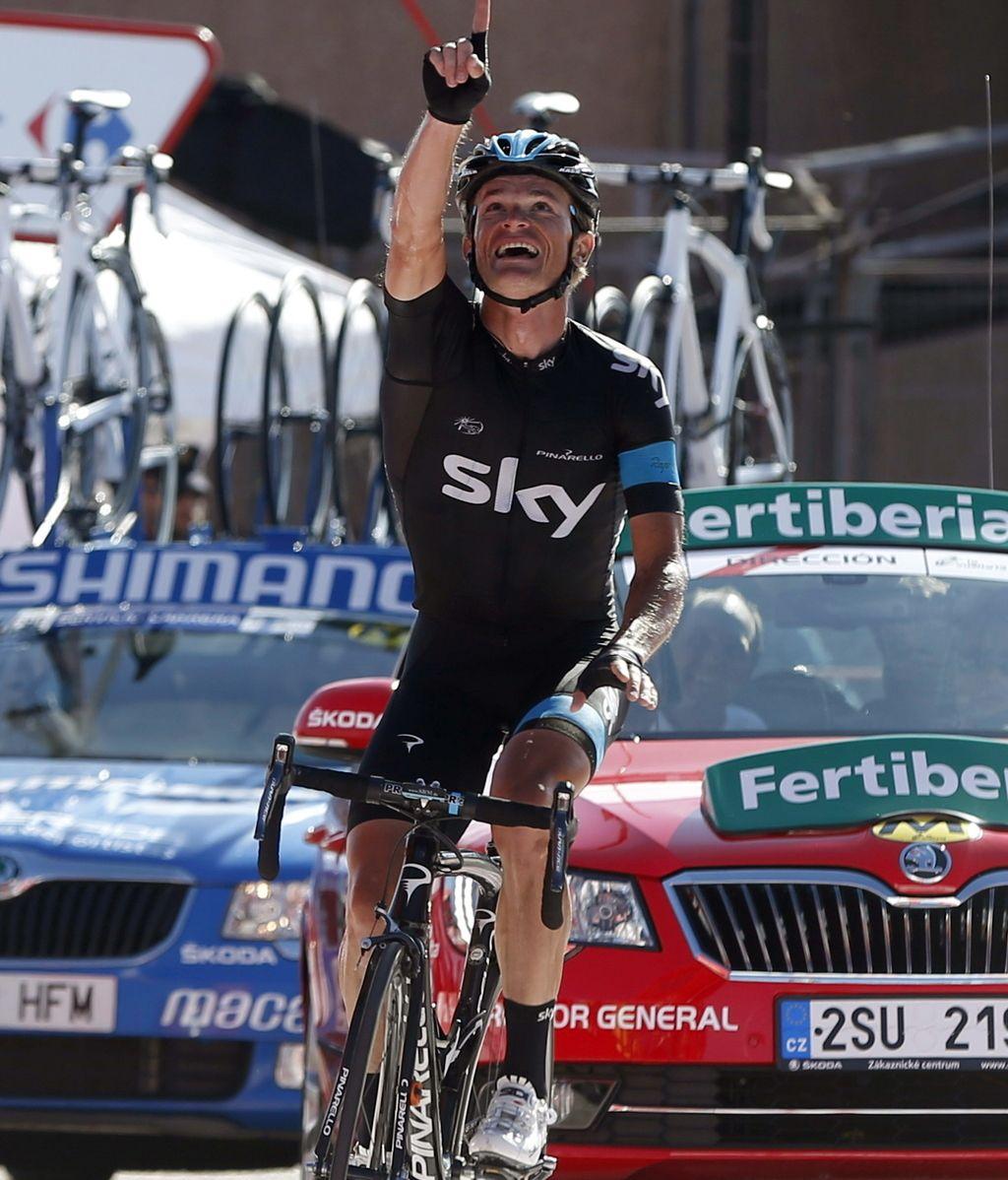 El bielorruso Vasil Kiryienka (Sky) se impuso en solitario la decimoctava etapa de la Vuelta disputada entre Burgos y Peña Cabarga