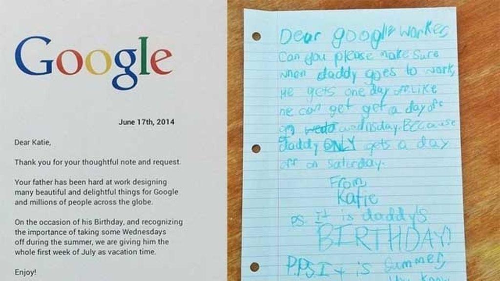 Su hija hace una carta y consigue que le den vacaciones