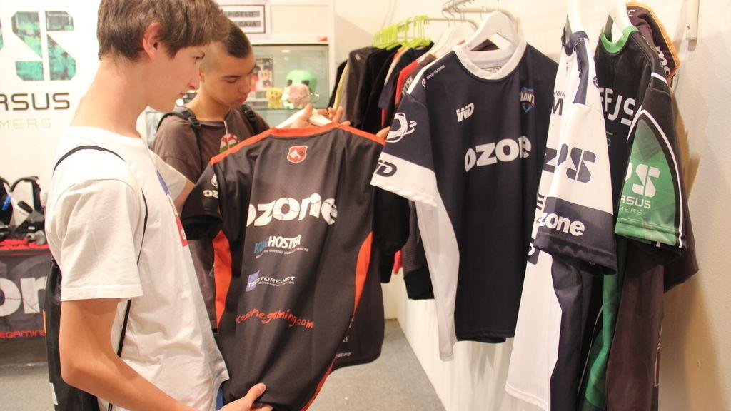 Merchandising de camisetas de los equipos