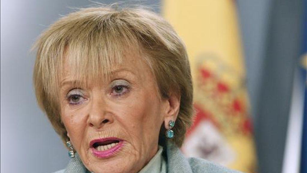 La vicepresidenta del Gobierno, María Teresa Fernández de la Vega. EFE/Archivo