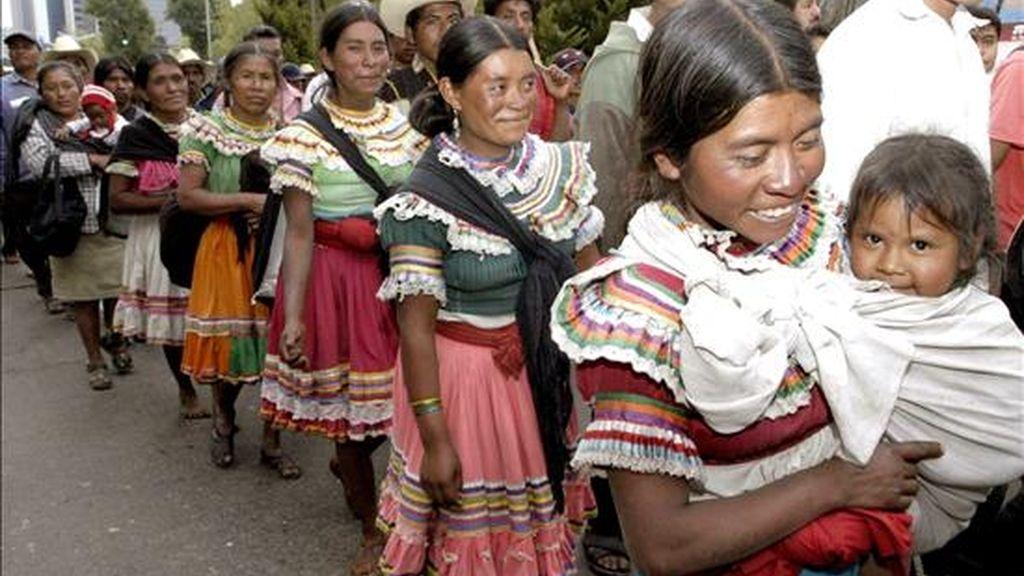 Anaya mantendrá un encuentro con organizaciones indígenas en la sede de Amnistía Internacional Chile en Santiago . EFE/Archivo