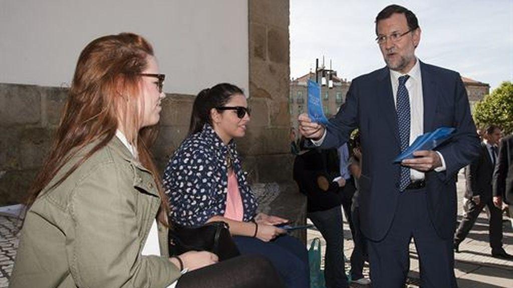Mariano Rajoy hace campaña por el europeas en Pontevedra