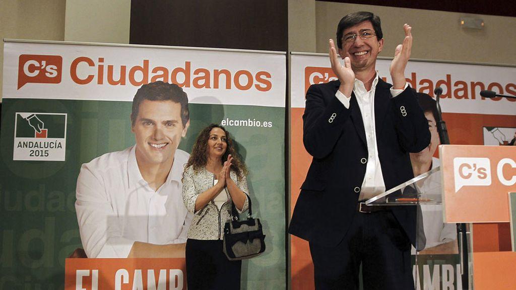 El candidato de Ciudadanos, Juan Marín, arranca la campaña