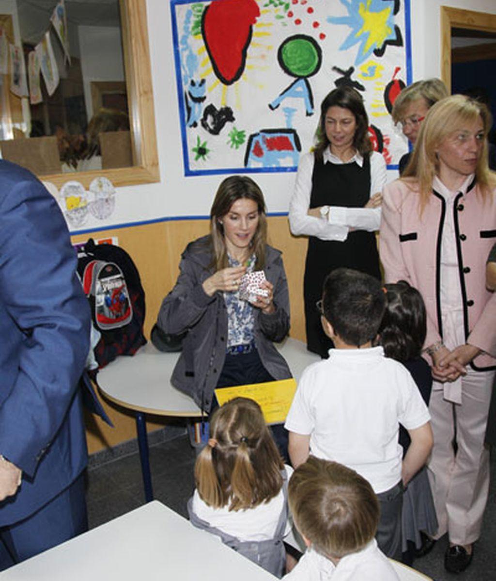 Letizia en el colegio Joaquín Blume, en Torrejón de Ardoz