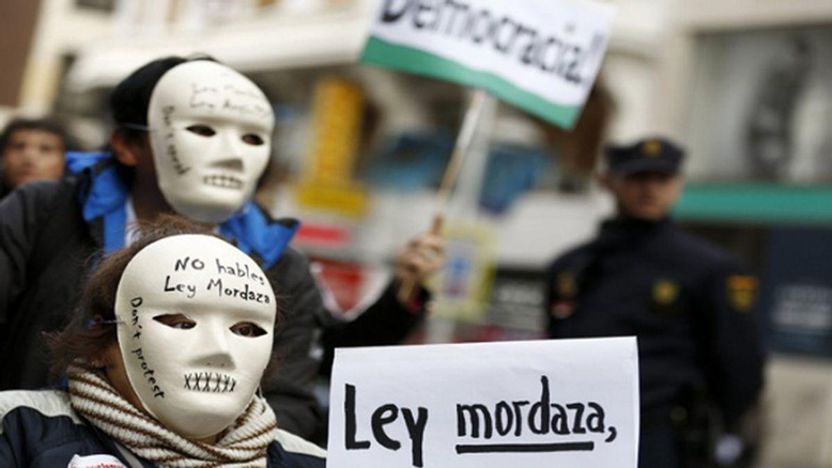 Protesta social contra la Ley Mordaza