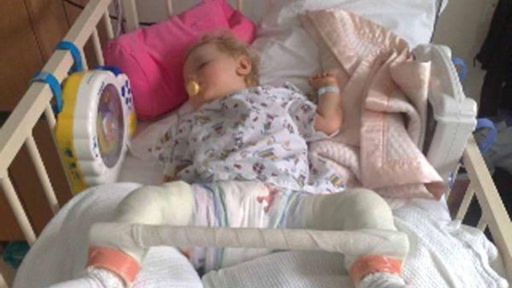 Olivia, la niña a la que se le dislocaban los huesos