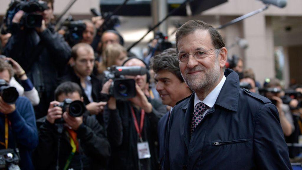 Mariano Rajoy a su llegada a la cumbre europea en Bruselas