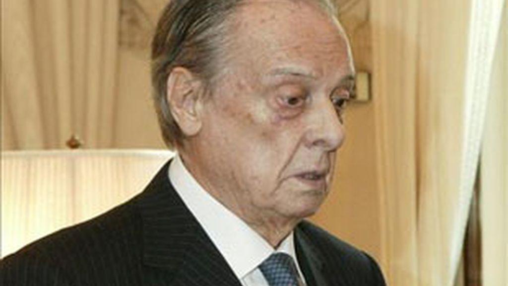 El ex jefe de la Casa del Rey y asesor privado de Don Juan Carlos, Sabino Fernández Campo, fallecido este lunes en Madrid a los 91 años. Foto: EFE.